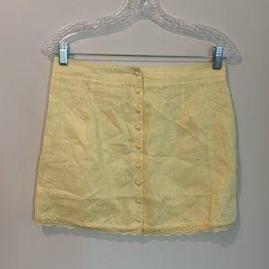 Light Yellow Mini Skirt from Forever 21